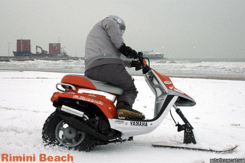 Скутер для снега своими руками